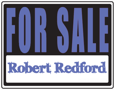 Robert Redford for Sale
